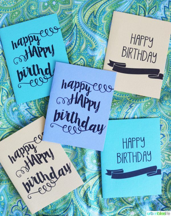 Printable Birthday Cards | Today's Creative Life
