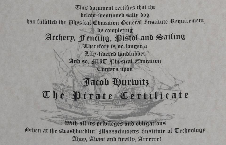 Arrrrr! MIT Pirates Certified — Slice of MIT from the MIT Alumni ...
