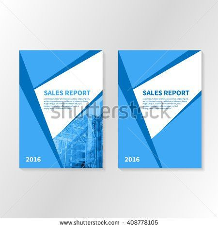 Business Report Booklet Cover Brochure Layout Stock Vector ...