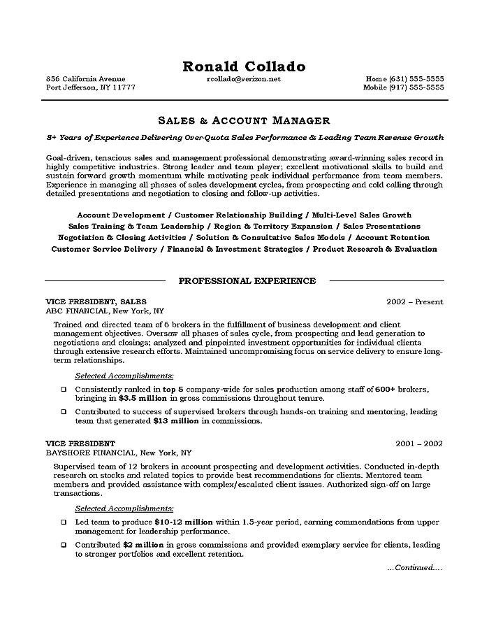 Resume Objective For Sales | Best Business Template