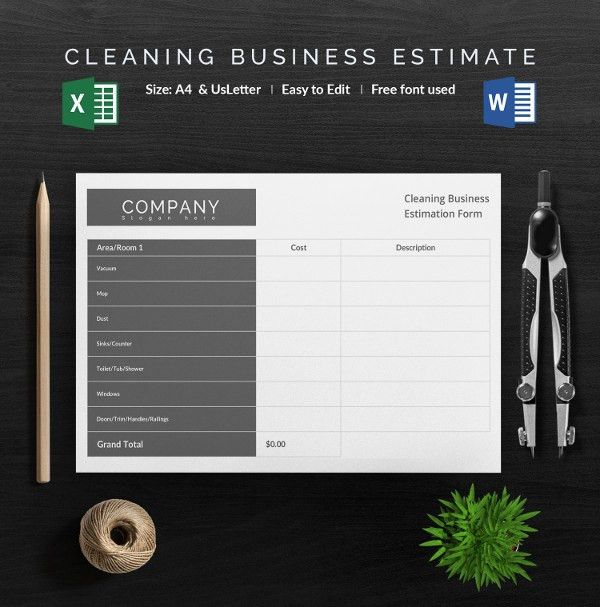 Blank Estimate Template – 23+ Free Word, PDF,Excel,Google Sheets ...