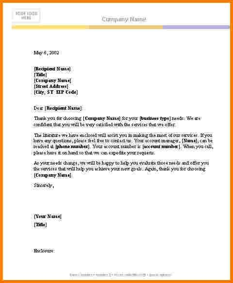 Business Letter Template Word | business letter template