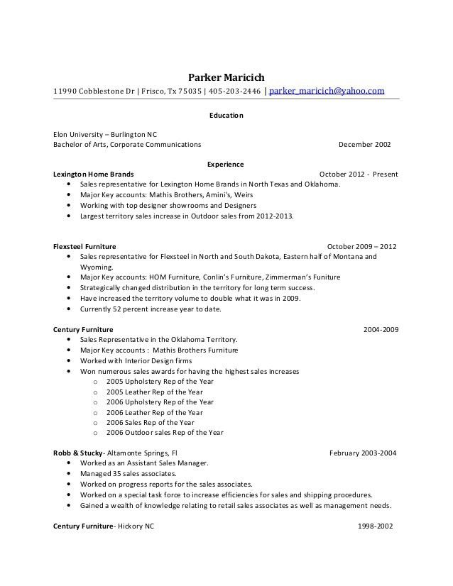 Parker Maricich resume