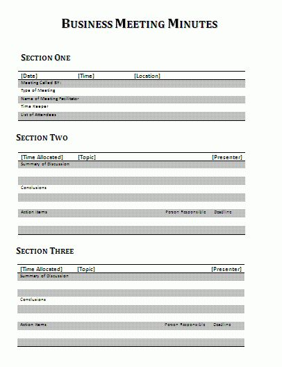 Meeting Minutes Report Template | Download It Free