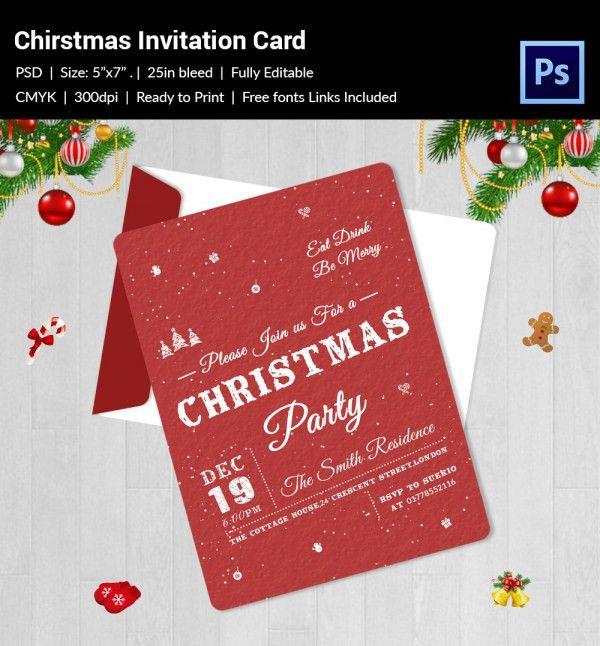 Christmas Invitation Template - 27+ Free PSD, EPS, Vector, AI ...