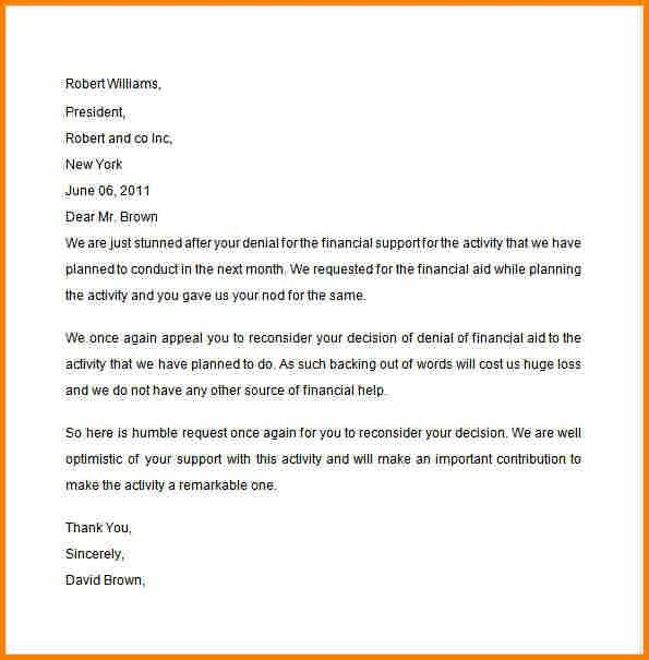 Example Of Appeal Letter. Appeal Letter For School Sample-Appeal ...