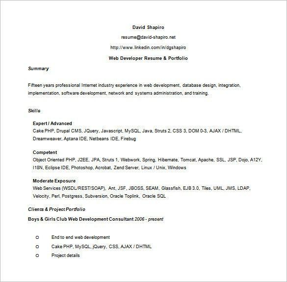 Perl Programmer Resume Perl Programmer Resume Web Developer Resume - perl programmer resume