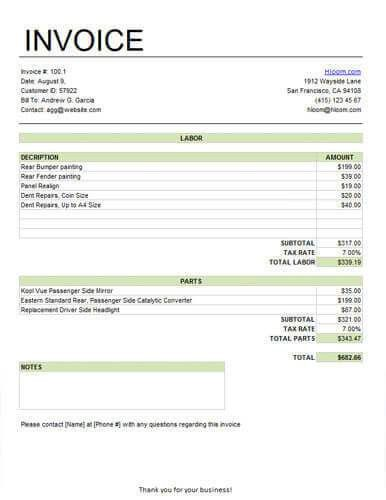 Free Service Invoice Templates [Billing in Word and Excel]