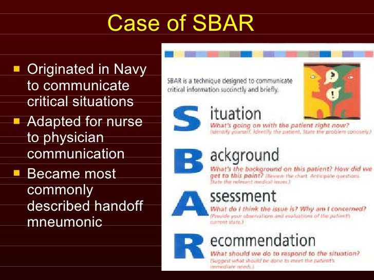 Sbar Examples In Business] Surgical Team Communications Perspect ...