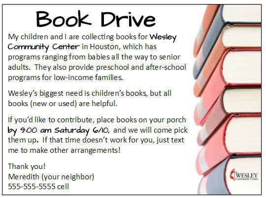 Create Your Own Book Drive + Free Flyer Printable! - Laguna Lane