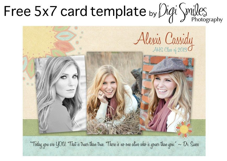 Free Card Template for Photoshop – Drop in your photos and text ...