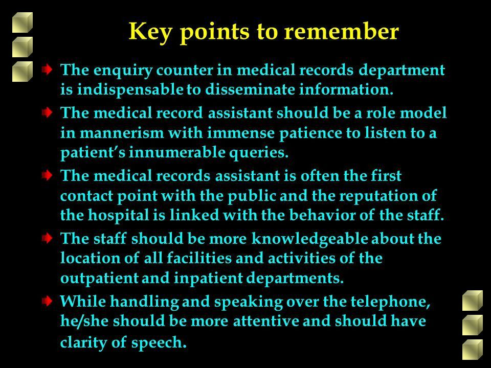 MEDICAL RECORDS MANAGEMENT IN EYE CARE SERVICES 2.MEDICAL RECORDS ...