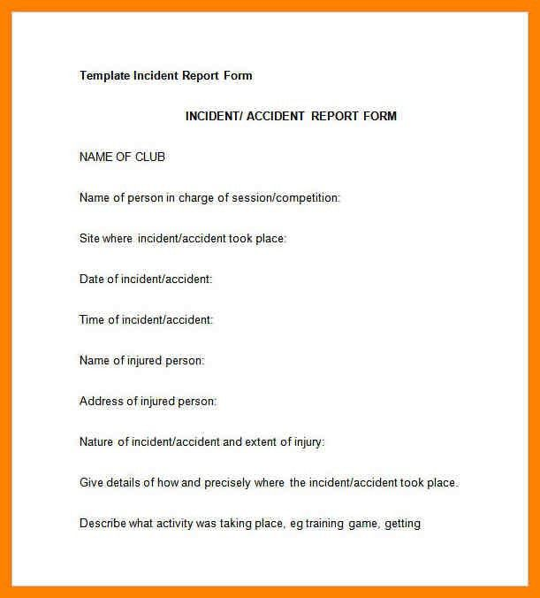 3+ Incident Report Letter Template | Day Care ReceiptsIncident ...