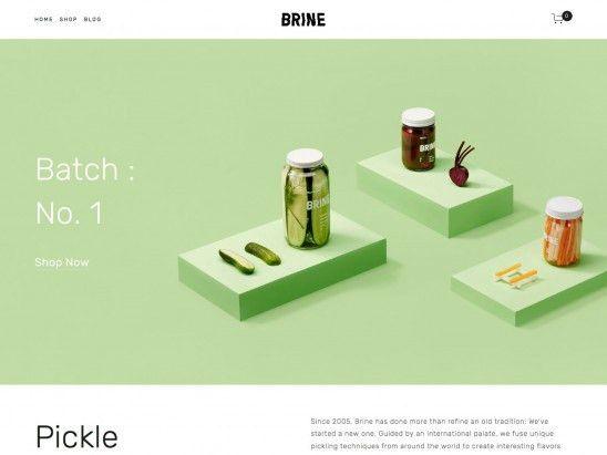 Brine Squarespace Template Analysis - Using My Head