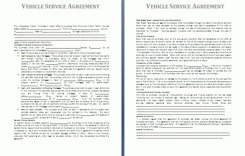 service agreement template barter