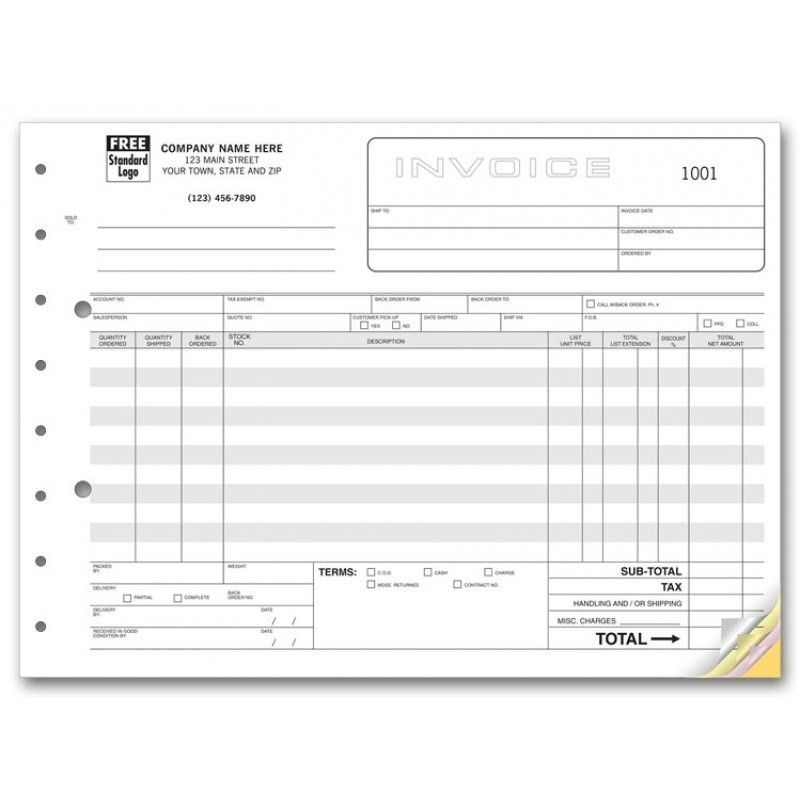 Wholesale Invoice Forms | Free Shipping