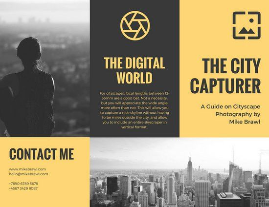 Yellow Black Modern Photography Brochure - Templates by Canva