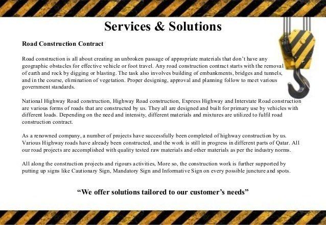 Construction Company Profile template