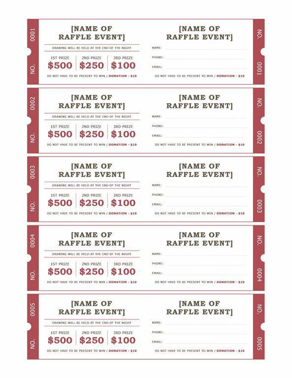 85 best Raffle Ticket Templates & Ideas images on Pinterest ...