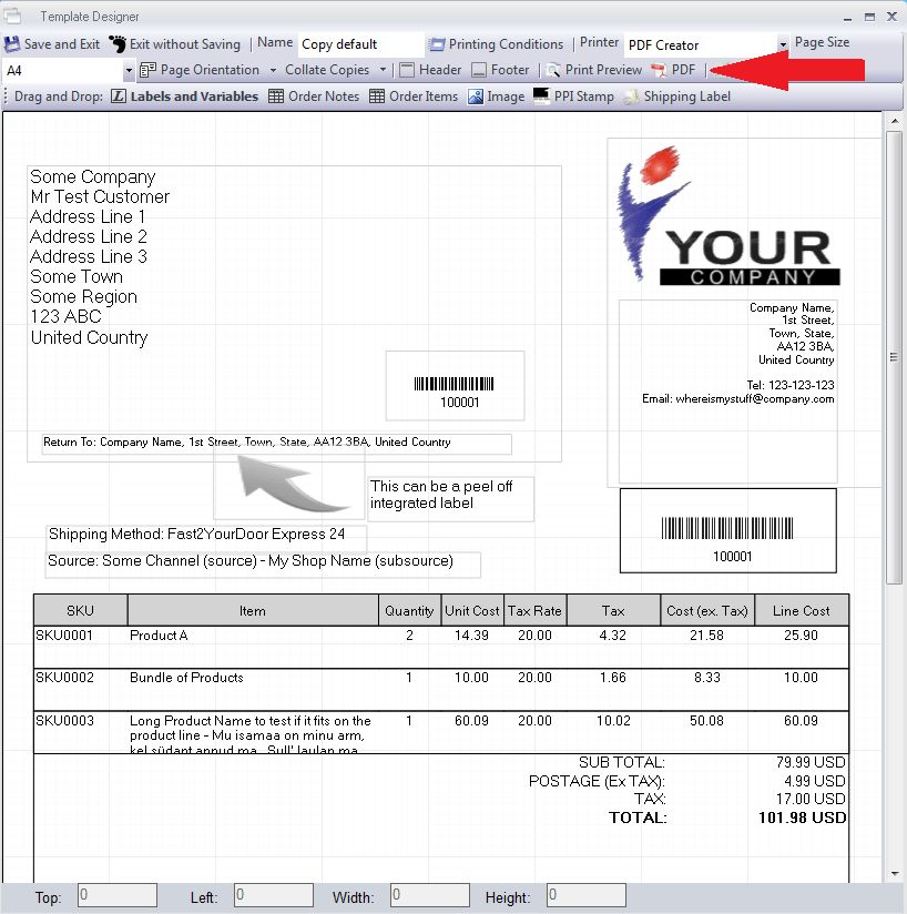 PDF Invoice Email Attachment - Linnworks Documentation