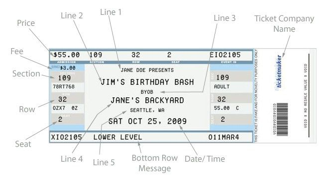 Concert Ticket Template. Concert Ticket Template Word Success ...