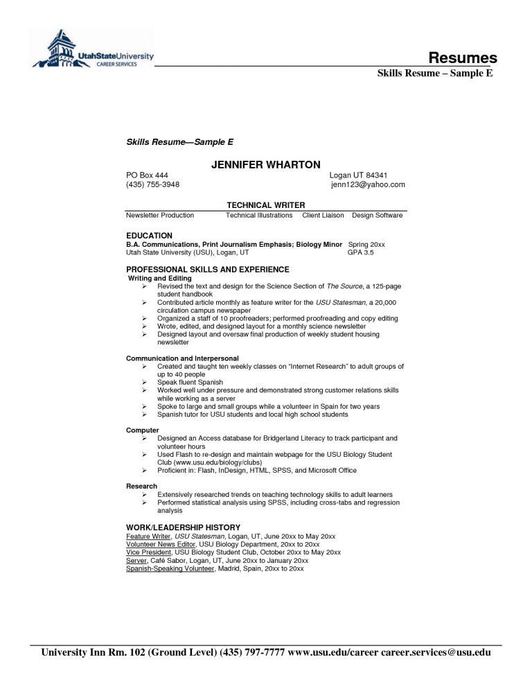 Homely Design Resume Samples Skills 10 Resume Examples For Skills ...