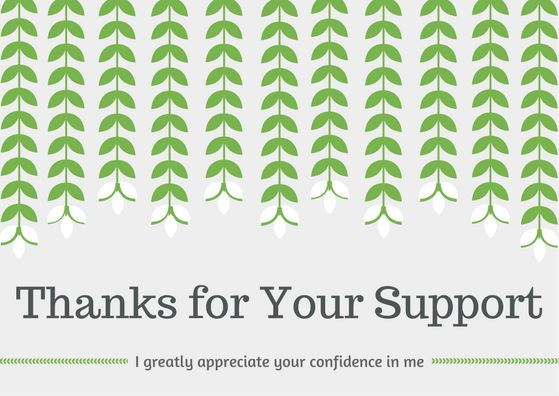 Boss Appreciation Thank You Note Wording Samples