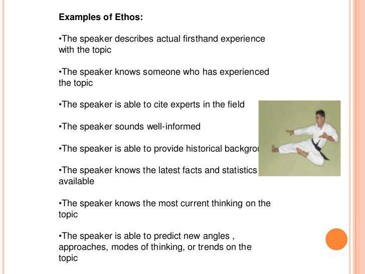 Identifying the rhetorical tools of ethos, logos