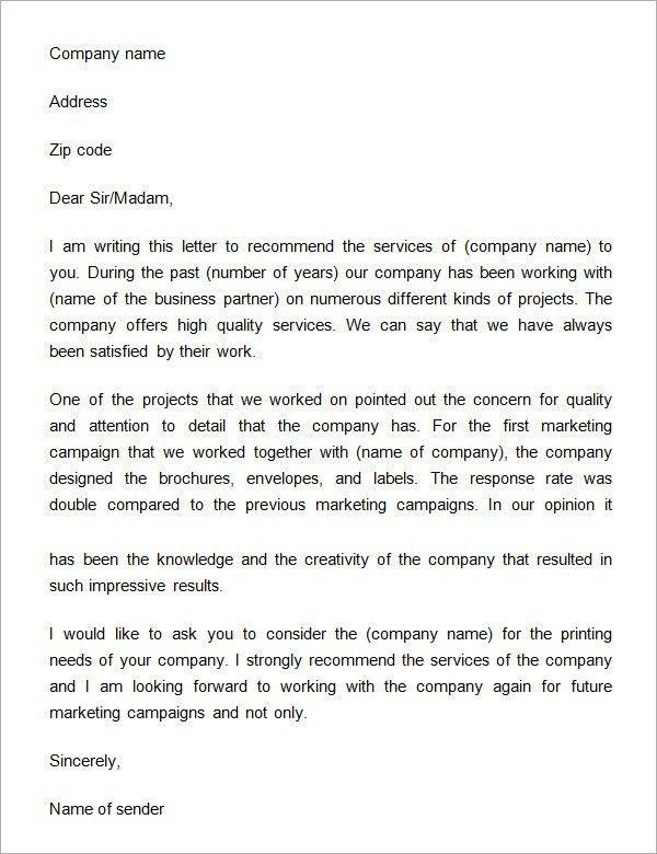 Sample Testimonial Letter For Business | The Best Letter Sample