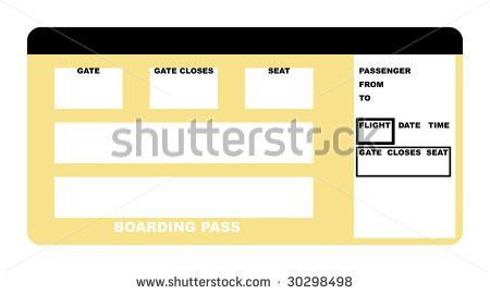 Blank Plane Ticket Clipart - China-cps