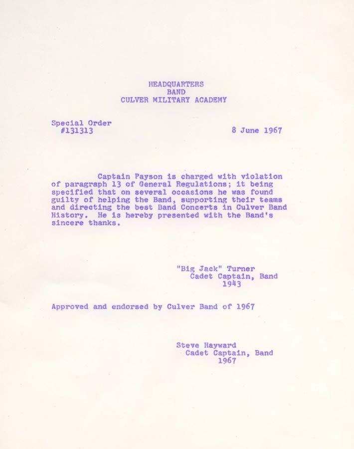 Col. Edward Payson Memorabilia