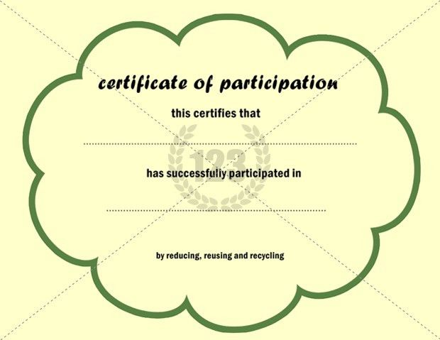 This is an Eco friendly Certificate of Participation Template ...