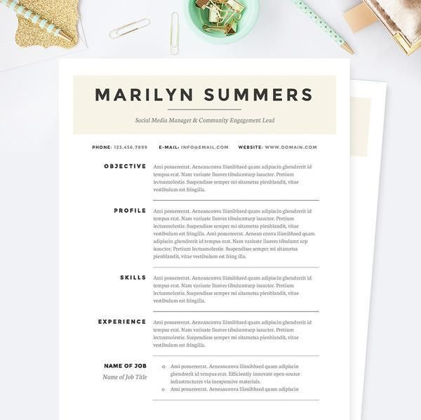 Baby Blue Web Designer CV Resume, Cover Letter & References ...
