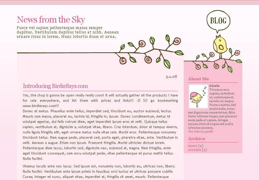Free Templates for Blogger and Wordpress / Plantillas Gratis para ...