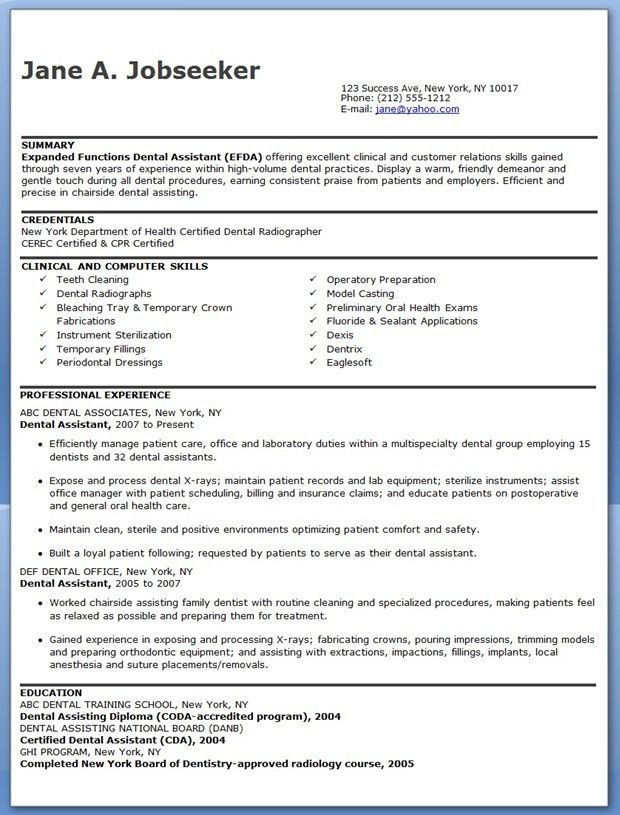 Dental Assistant Resume Template | Creative Resume Design .