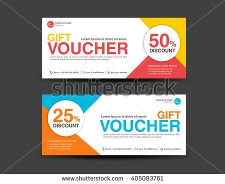 Red Gift Voucher Template Coupon Design Stock Vector 522331030 ...