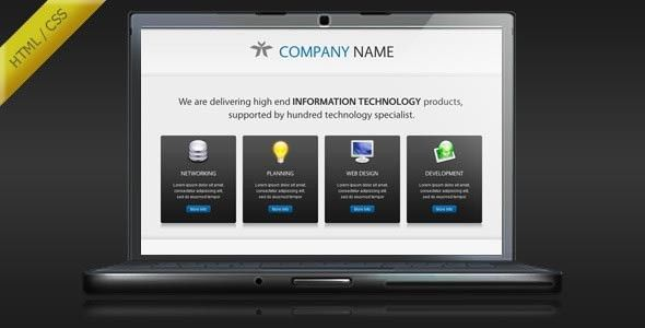 35 HTML Landing Page Design Templates For Business   Web & Graphic ...