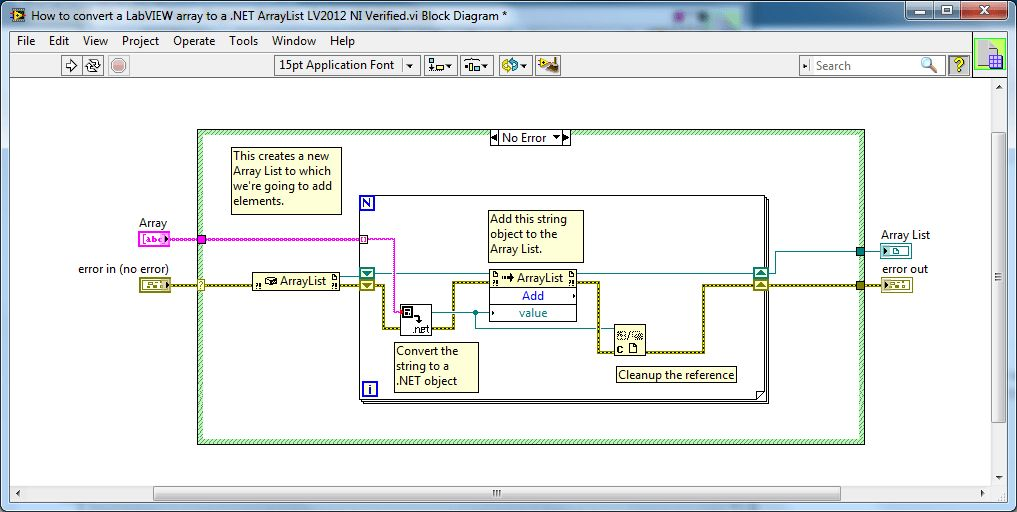 How to convert a LabVIEW array to a .NET ArrayList - Discussion ...