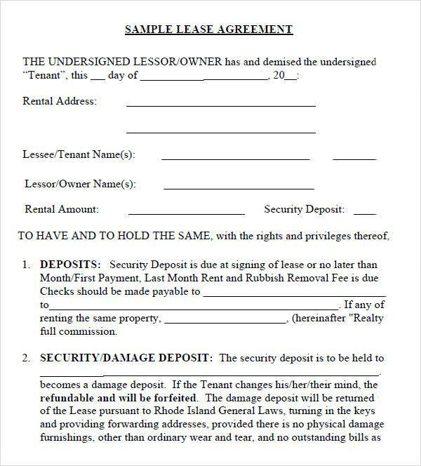 Leasing Agreement - 7+ Free PDF Download