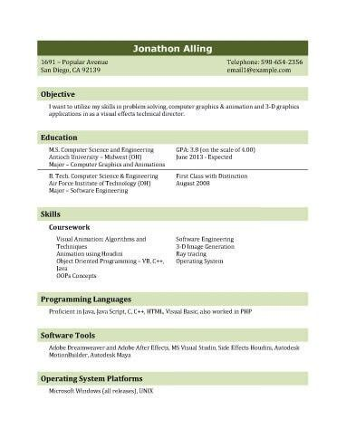 Resume Sample For Fresh Graduate | jennywashere.com