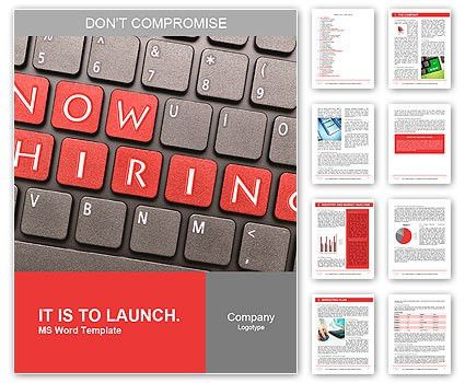 Now hiring on keyboard Word Template & Design ID 0000009666 ...