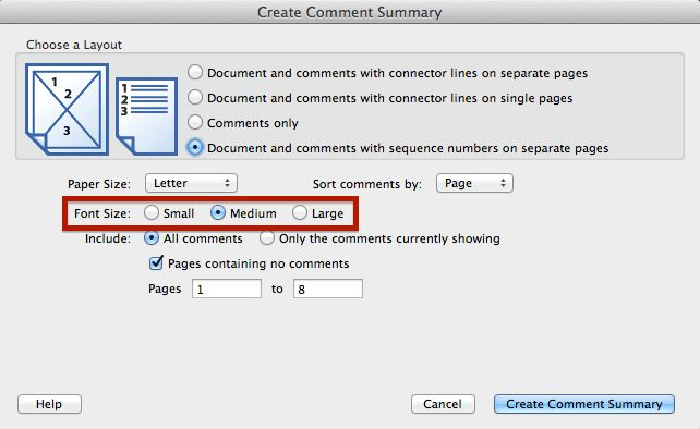 How to print a PDF with comments
