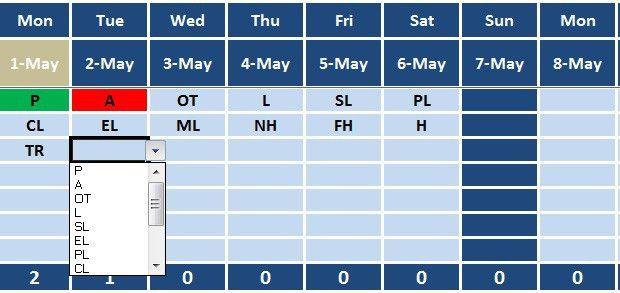Download Employee Attendance Sheet Excel Template - ExcelDataPro