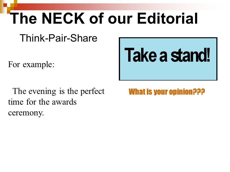 Editorial Writing Entry Task In your own words, define editorial ...