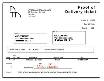 10 Best Images of Delivery Receipt Proof Of Delivery - Proof of ...