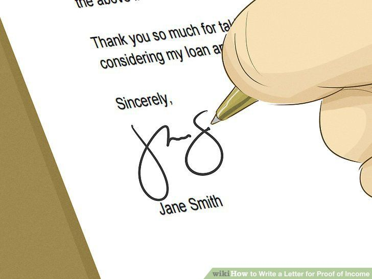How to Write a Letter for Proof of Income (with Sample Letters)