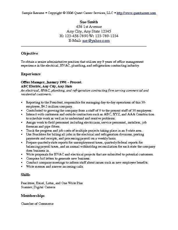Cover Letter Objective Examples | The Best Letter Sample