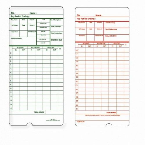 9 Best Photos of Printable Time Card Template - Free Printable ...