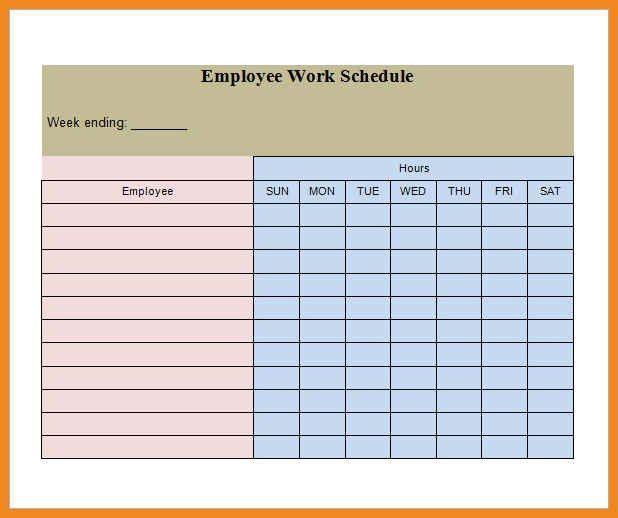 employee schedule template | art resume examples