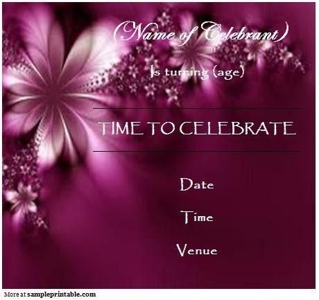 Birthday Invitation Templates Free Download | badbrya.com